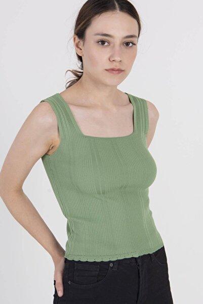 Addax Kadın Çağla Kalın Askılı Triko T5585 - E11 ADX-0000022937