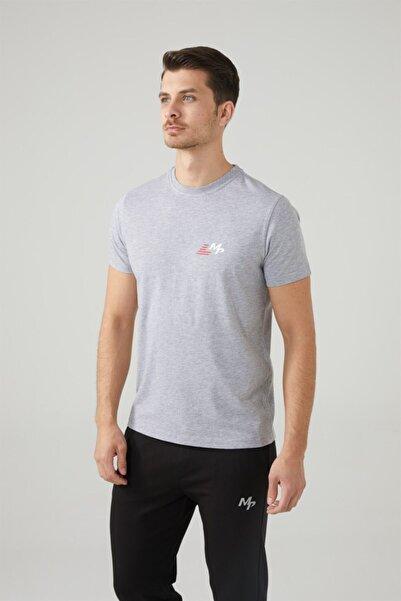 MP Erkek Bisiklet Yaka Gri T-shirt Tekstil 201-5011mr 550