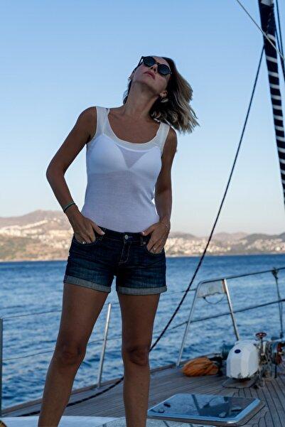 Silk and Cashmere Ipek Karışımlı Charlotte Kolsuz Bluz