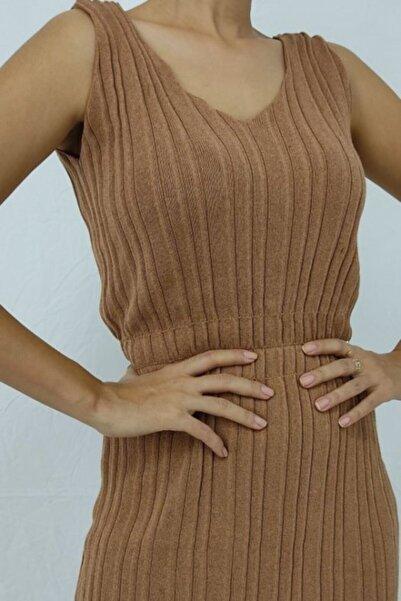 Nisan Triko Kadın V Yaka Gipeli Elbise