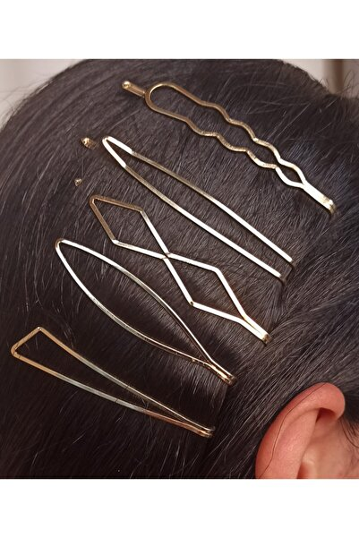 MagicStone Beşli Altın Saç Tokası