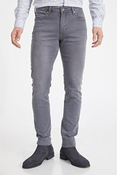 Avva Erkek Gri Slim Fit Jean Pantolon A02y3575