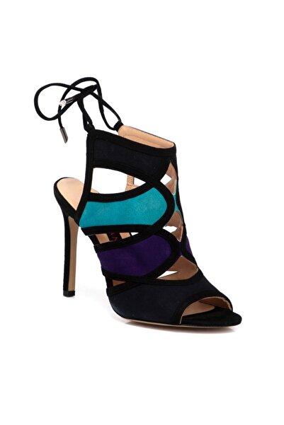 Tergan Siyah Deri Kadın Ayakkabı 64269a01
