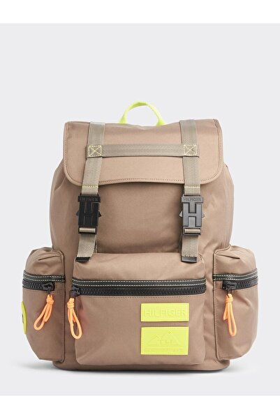 Tommy Hilfiger Outdoor Nylon Flap Backpack