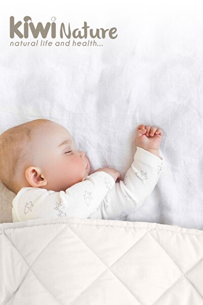 Kiwi %100 Organik Kuzu Yünü Dolgulu Bebek Yorganı
