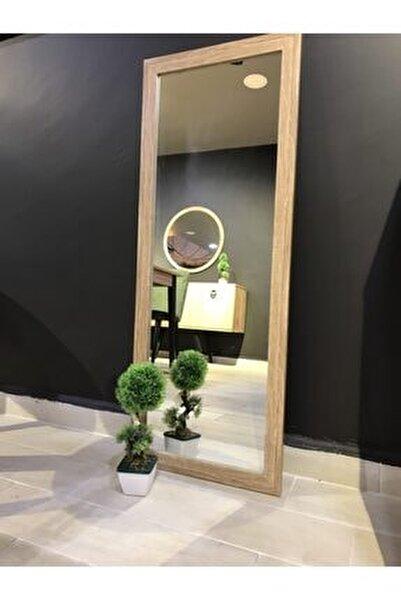 40*104 Natural Ahşap Görünümlü Salon Ofis Boy Aynası