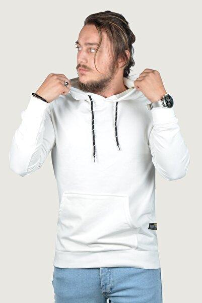 Terapi Men Erkek Kapşonlu Uzun Kollu Sweatshirt 20y-5200322 Beyaz