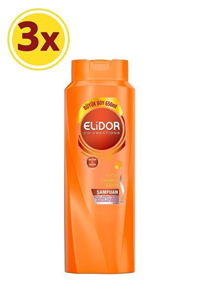 Elidor Anında Onarıcı Bakım Saç Bakım Şampuanı 650 ml X3