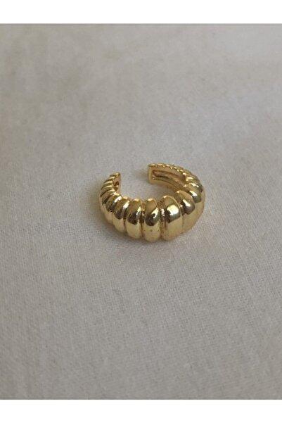 KİLİG Gold Renk Vintage Kıkırdak Küpesi