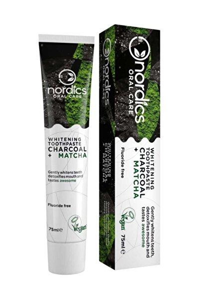 TheLifeCo Nordics Florürsüz Diş Macunu Aktif Karbon Ve Matchalı Beyazlatıcı Etkili 75 ml