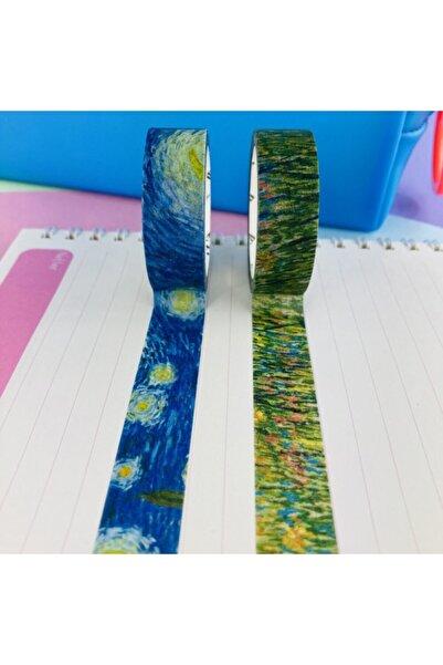 Şeker Ofisi Washi Tapes Desenli Bantlar 2 Adet Van Gogh Özel Seri1