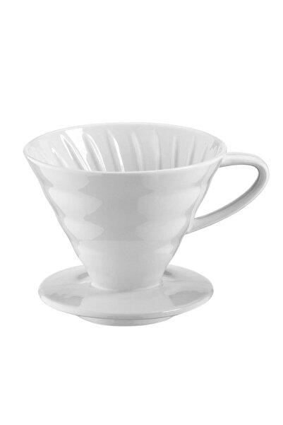 Kütahya V60 02 Seramik Kahve Demleme Ekipmanı (Beyaz)