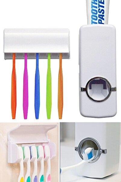 Margin Otomatik Diş Macunu Sıkacağı Ve 5'li Diş Fırçalığı