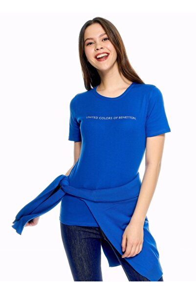 United Colors of Benetton Benetton Benetton Yazılı Basic Tshirt