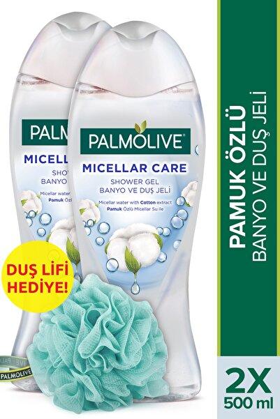 Palmolive Micellar Care Pamuk Özlü Banyo Ve Duş Jeli 500 ml X 2 Adet Duş Lifi Hediye