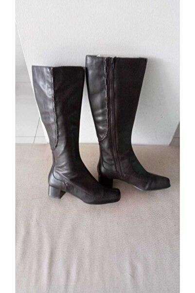 CLARKS Kadın  Koyu Kahverengi Çizme
