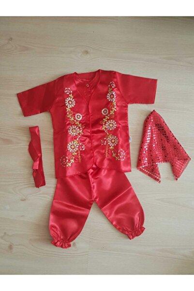 Sevnur Baby Kız Bebek Kırmızı Mevlüt Kına Kıyafeti 123789