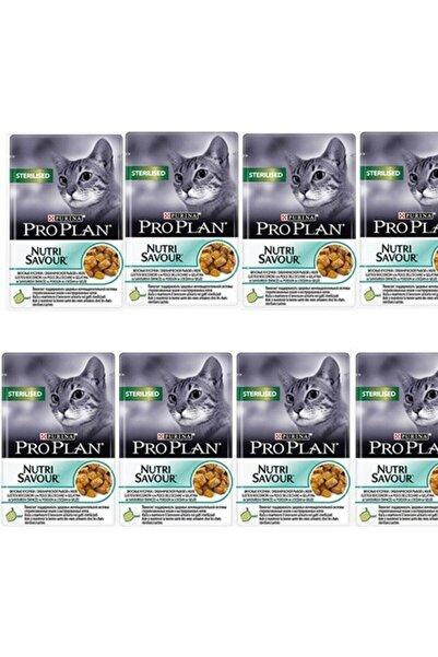 Purina Pro Plan Pro Plan Sterilised Cat Kısırlaştırılmış Balıklı Kedi Yaş Maması 85 gr X 8 Adet