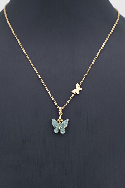 Sortie Aksesuar Kelebek Figürlü Renkli Kolye 001