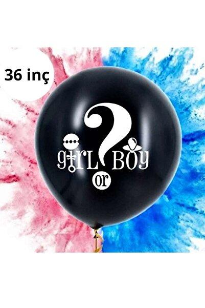 Huzur Party Store Pembe 90 Cm Konfetili Pullu Cinsiyet Belirleme Partisi Balonu Gırl Or Boy Kız Mı Erkek Mi 36 Inç