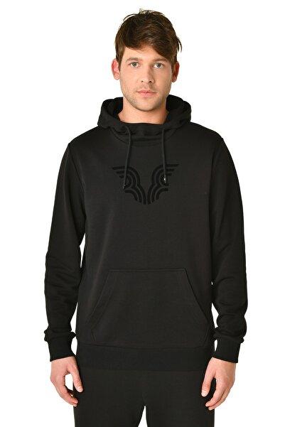 bilcee Erkek Siyah Kapüşonlu Sweatshirt Iw-9346