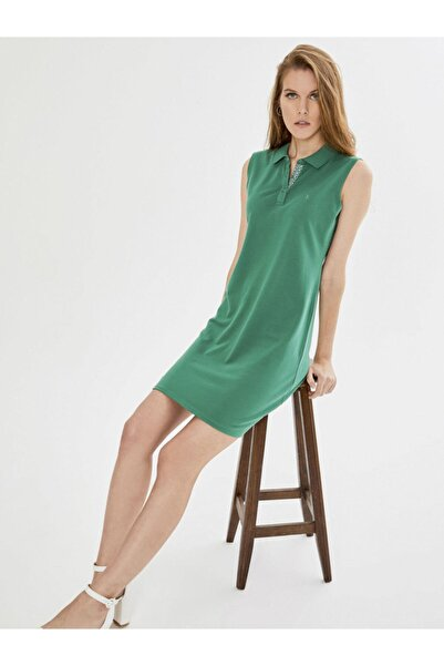 Xint Xınt Polo Yaka Kolsuz Pamuklu Basic Elbise