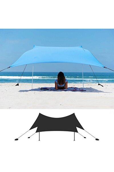 Svava Mavi  Gölgelik Tente Plaj Şemsiyesi