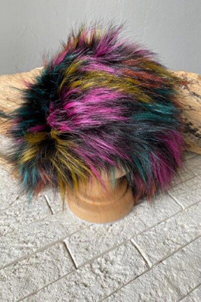 YELSS AKSESUAR Karışık Renkli Peluş Kalpak Şapka