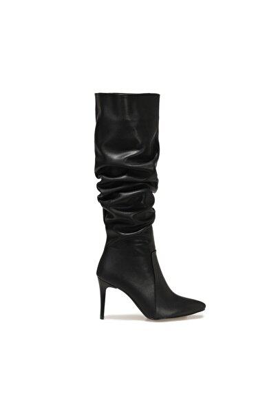 Butigo Lucie Siyah Kadın Ökçeli Çizme