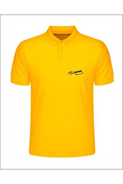 Jan Mayen Unisex Sarı Atatürk İmzalı Polo Yaka T-Shirt