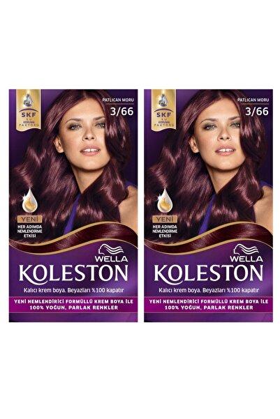 Koleston 3/66 Kit Patlıcan Moru Saç Boyası 2'li