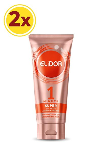 Elidor 1 Minute Anında Onarıcı Bakım Süper Saç Kremi 170 ml X 2