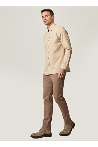AC&Co / Altınyıldız Classics Erkek Camel Kanvas Slim Fit Dar Kesim 5 Cep Pantolon