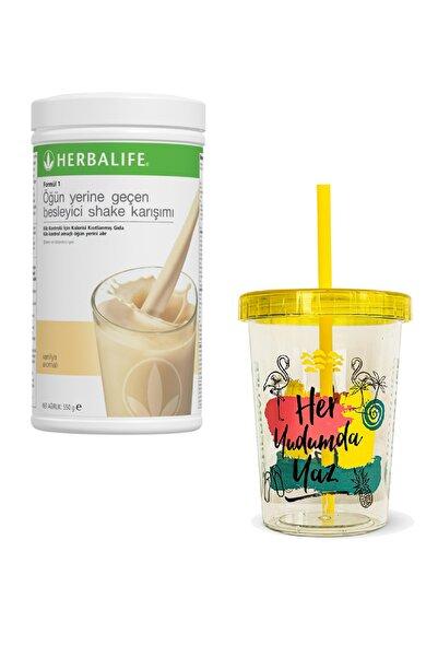 Herbalife Shake 550gr Vanilya Aromalı + Renkli Chiller 450ml