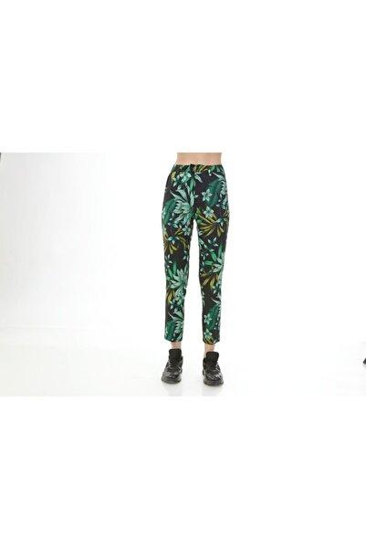 Rodi Jeans Kadın Yeşil Yaprak Desenli Kumaş Pantolon Ds21kb016071