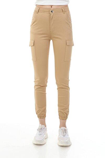 Rodi Jeans Kadın Camel Jogger Kargo Cep Pantolon Ds21kb018419