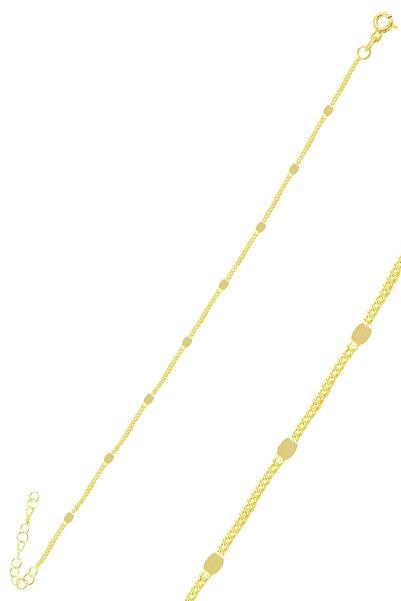 Söğütlü Silver Gümüş Altın Yaldızlı Pullu Gurmet  Zincir Bileklik