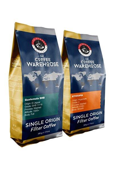 The Coffee Warehouse Avantaj Paket 1 Kg Etiyopya 500g + Guatemala 500g Filtre Kahve