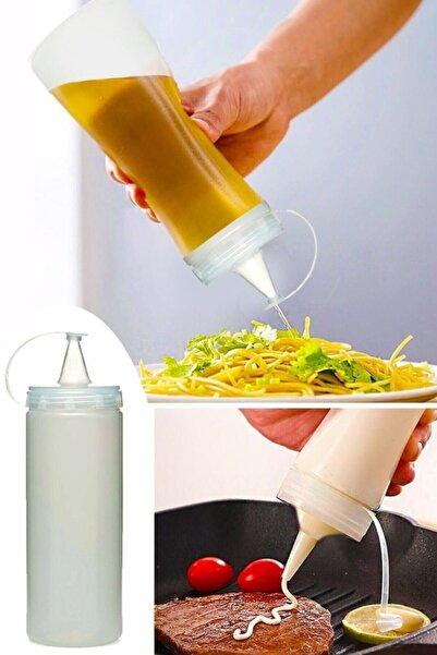 Margin Sızdırmaz Kapaklı Plastik Yağ Şişesi Yağdanlık Sos Şişesi 700 ml 4 Adet