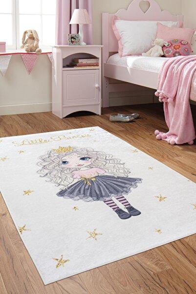colizon Dekoratif Kaymaz Tabanlı Little Princess Çocuk Halısı