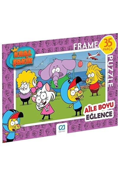 CA Games Kral Şakir Frame Puzzle 2 Pembe (35 Parça)