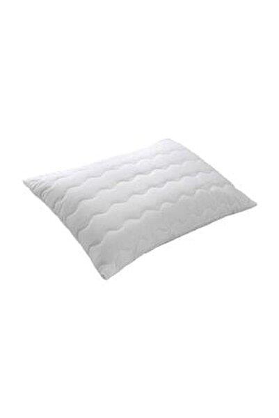 Beyaz Fermuarlı Kapitone Yastık Alezi 50x70