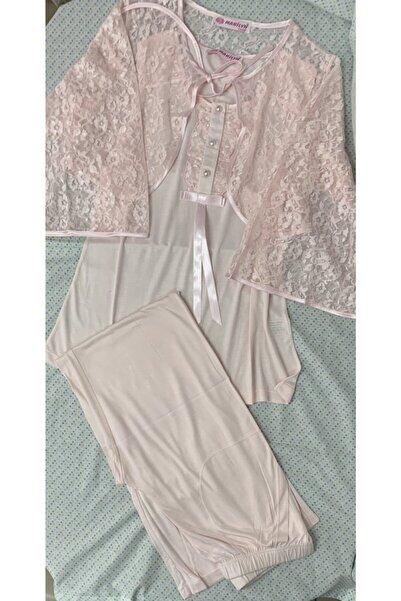 Marilyn Pijama Anne Lohusa 3`lü Pijama Takımı