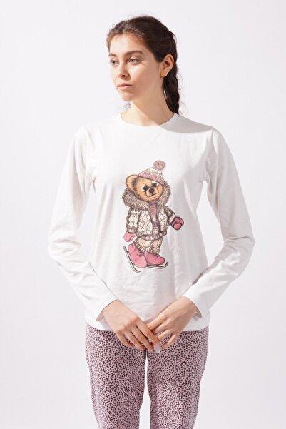 Katia&Bony Teddy Bear Kadın Pijama Takımı - Ekru