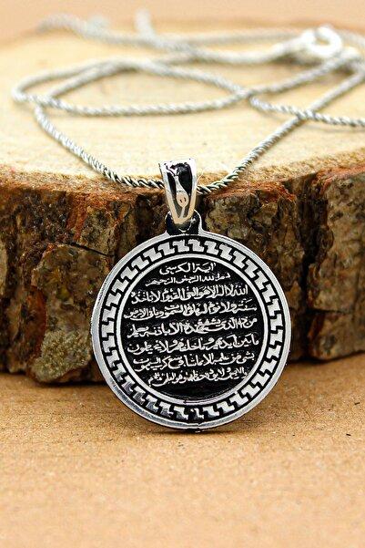 Else Silver Ayet El Kürsi Dualı Gümüş 925 Ayar Kolye