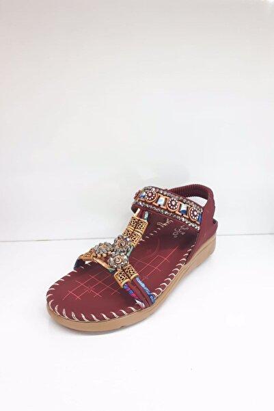 Guja Kadın Bordo Sandalet 20y150-10