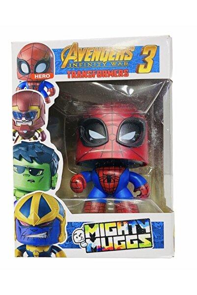 AVENGERS Spiderman Örümcek Adam Mighyt Muggs Ifadesi Değişen Figür Oyuncak 10 Cm
