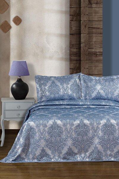 Elart Mavi Santiago Çift Kişilik Yatak Örtüsü