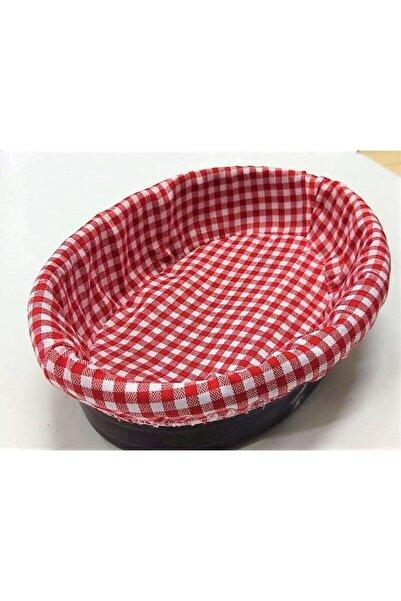 MATARMUTFAK Kırmızı Bezli Ekmek Sepeti