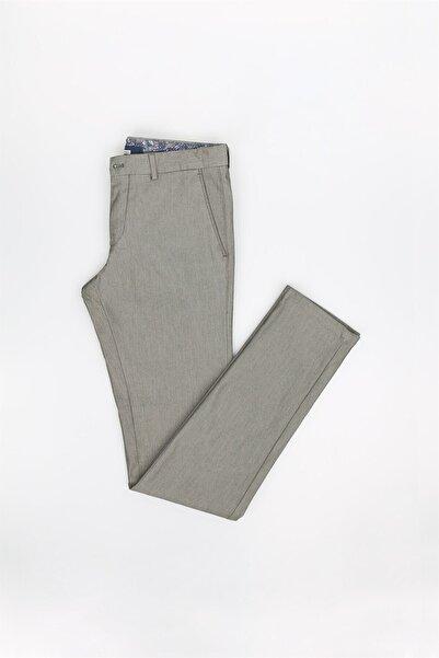 Jakamen Yeşil Extra Slim Fit Desenli Erkek Pantolon